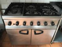 Lincat 6 Burner Commercial Gas Oven