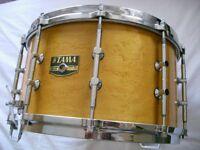 "Tama AW 548 Artwood BEM Pat 30 snare drum 14 x 8"" - Japan - '80s - Billy Gladstone homage"