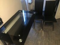 Black Glass Dining Table With Chairs
