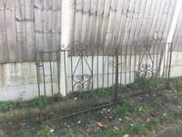 Set Of Wrought Iron Driveway Gates / Double Metal Gates- DELIVERY/COLLECTION WIGAN