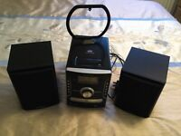 iSymphony stereo CD player with radio, iPod dock and dual speakers hardly used excellent condition