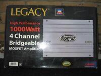 Legacy High Performance 1000 Watt 4 Channel Bridgable MOSFET Amplifier BNIB (LA660)