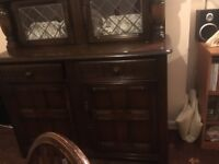 Priory wood table chairs dresser sideboard and nest of tables