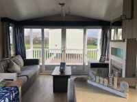 Static caravan with decking in North wales, abergele, towyn. With facilities and heated pool
