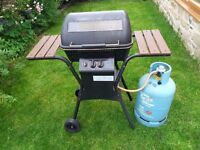 Gas Barbecue with gas bottle and regulator