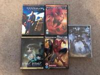 Superman, spider man, King Kong and transformers films