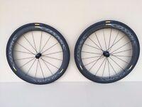 Road bike carbon wheels - carbon fibre wheelset - Mavic Cosmic Pro Carbon Exalith 2016
