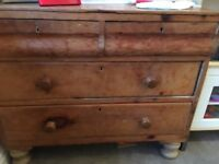 ***Stunning Old Vintage Rustic Chest of Drawers made of Solid Pine***