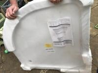 900 quad low level shower tray
