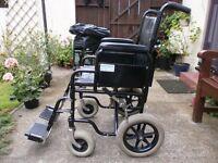 folding transit wheelchair