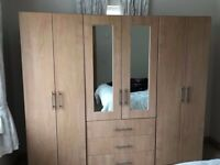 Wardrobes, dressing table & bedside cabinets