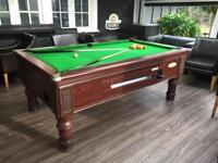 Pool table pick up, installation and removal