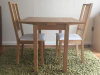 Ikea extendable table w 2 chairs