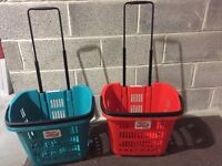 34 Litre Red and Blue Shop & Roll Shopping Basket 58 AVAILABLE