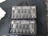 2 x Line 6 POD XT Live Guitar Effects pedals
