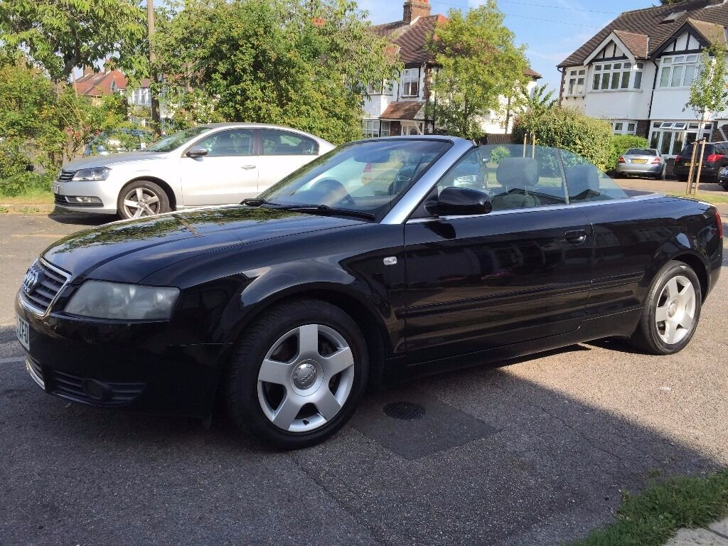 2004 audi a4 1 8t cabriolet convertible 5 seats black color 53 reg 113000 miles 2 owners alloys. Black Bedroom Furniture Sets. Home Design Ideas