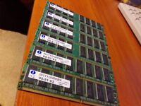 6x 1 GB DDR Dimms