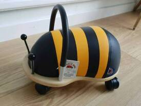 Wheelybug bee ride on toy - new