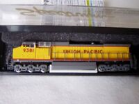 """Union Pacific"" N gauge model locomotive"