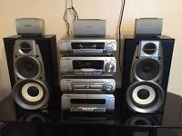 Technics SC-DV290 DVD CD Cassette Radio Entertainment System Surround Sound