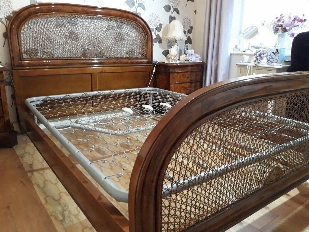 Vintage Handmade Italian Art Deco Style Double Bed Frame Very Nice