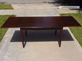 Dining table, folding table, wooden dark brown, cheap