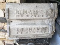 Second hand Redland Roman 'M' grey roof tiles - approx 120 for sale.