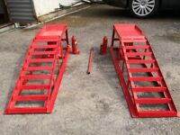Car Ramps, Adjustable Height, Heavy Duty