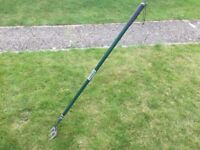 Long handle garden fork made by Yeoman
