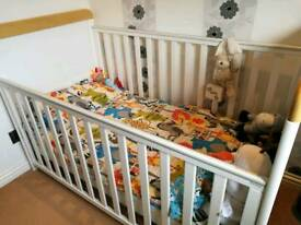 Babies cot and babies changing unit