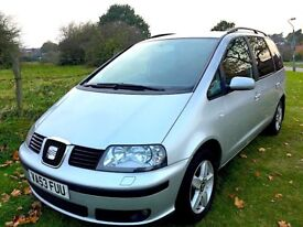 Seat Alhambra Auto 1.9 TDI PD MPV, Diesel Automatic , Heated Seats , Parking Aid , Quick Sale £1250