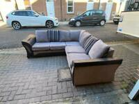 grey and black corner sofa Delivery available