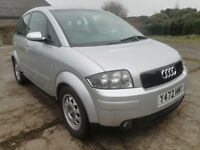 2001/Y Audi A2 1.4 Tdi, £30 road tax, low miles diesel, FSH, new cambelt kit & service, excellent!!