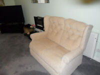 Two seater fabric sofa
