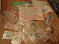 Stamp Collection Item 5 - loose mostly post marked stamps 1940's onwards