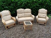 CANE 4 PIECE CONSERVATORY FURNITURE EX CON , CAN DELIVER GT YARMOUTH AREA