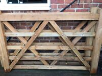 Wooden gates with Hanging Posts and Hinges