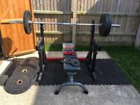 Complete Home free weights gym