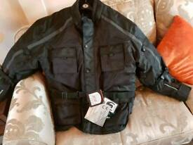 Motorbike motorcycle jacket and trousers