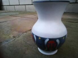 German Vase With Decoration 5 Inches Tall