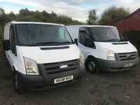Two Ford Transit x2 2008 Model Available, Very Good Clean Vans
