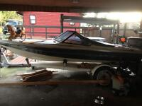 For trade 16 foot silverline by Larson speed boat