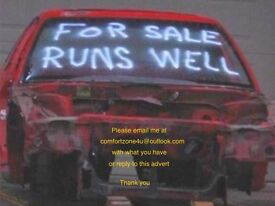I pick up or buy any car / vehicle, even a non runner for spares or repair. Hobby project vehicle!