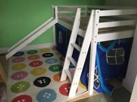 Kids bed with ladder and slide