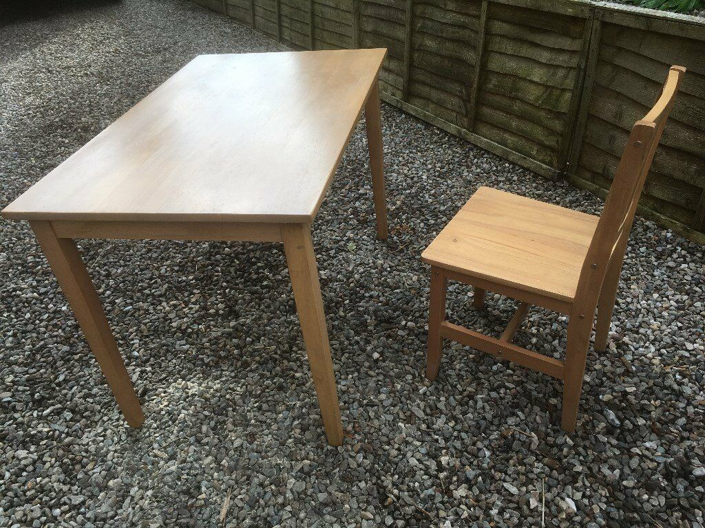 3 Wooden Cafe Style Tables And 8 Chairs All Solid Wood In Good Condition May Separately