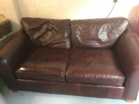 Large 2 Seater M&S leather Abbey Sofa