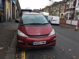 Toyota Previa breaking for spares or repairs