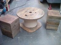 Cable drum garden table and pallet wood chairs!!! (Summer sale)