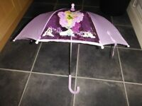 Disney Tinkerbell Lilac Umbrella Excellent Condition