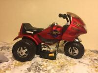 Battery powered ride on motorbike/trike